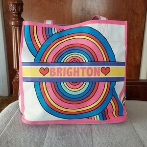 Brighton Tote Bag Love To Be Bold Hot Pink Rainbow